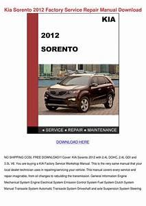 Kia Sorento Repair Manual Pdf