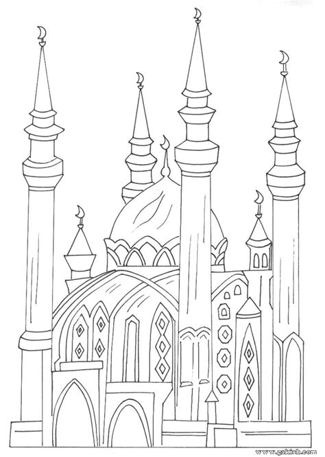 Coloring Mosque by Coloring Books For Muslim Children Coloring Mosque Arabic