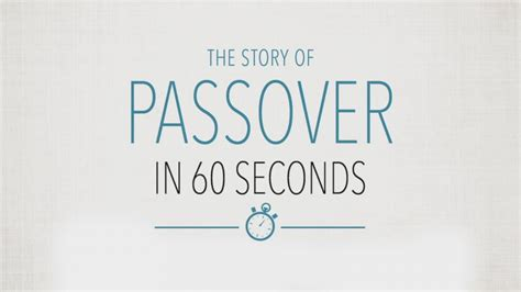 the story of passover in 60 seconds abc news 775 | 170407 vod orig passover 60seconds 16x9 992
