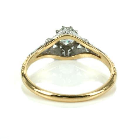 art deco diamond engagement ring