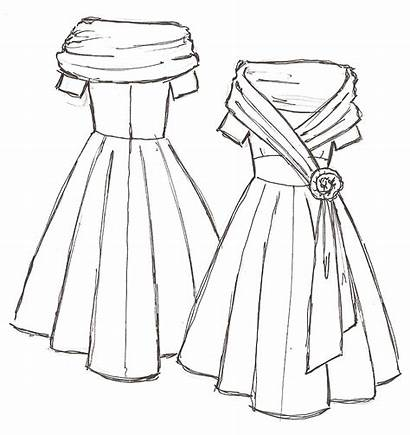 Dresses Mother Groom Drawing Simple Prom Cowl