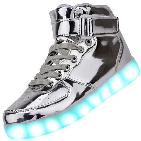 light up high tops men high top usb charging led light up shoes flashing