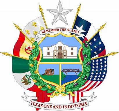 Seal Texas Reverse Flags Six Svg State
