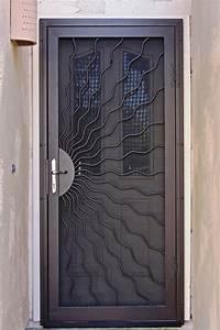 Unique home designs security doors homesfeed for Unique home design security doors