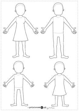 szablon postaci rodzina printotekapl szablony