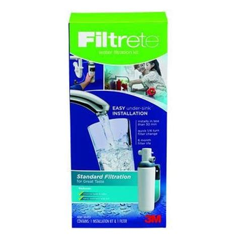 filtrete sink standard replacement water filter 3usas01 faucets