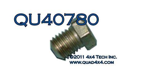 Qu40780 Flush Grease Zerk Fitting
