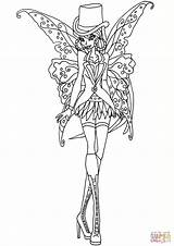 Coloring Gothic Fairies Printable Fairy Adults Dark Flora Flower Angel Unique Thrift Adult Elfkena Supercoloring Nature Winx Club Printables Books sketch template