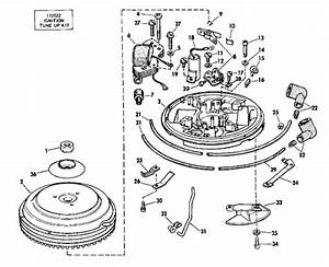 Johnson Magneto Parts For 1974 4hp 4w74r Outboard Motor