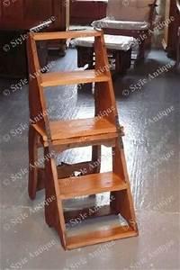 Escabeau En Bois Decoratif : chaise escabeau style antique fabrication artisanale ~ Dode.kayakingforconservation.com Idées de Décoration