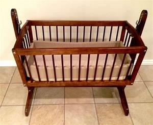 Babies: wooden cradle