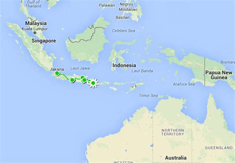 travel map  java  bali reisekarte von java nach