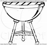 Grill Bbq Charcoal Clipart Cartoon Vector Coloring Royalty Weber Ber Bar Pages Toon Hit Illustration Again Looking Case Don sketch template