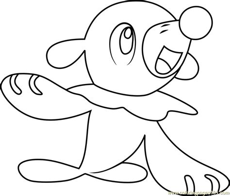 Kleurplaat Sun by Popplio Sun And Moon Coloring Page Free Pok 233 Mon