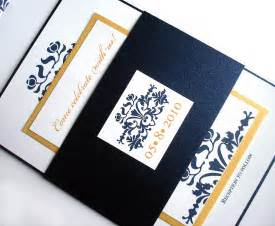 navy and gold wedding invitation navy blue wedding invitation - Navy And Gold Wedding Invitations