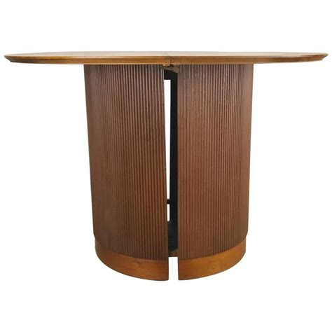 johnson furniture expanding table unusual cylinder base round expandable dining table for