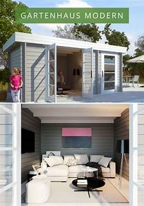 Gartenhaus Grau Modern : gartenhaus modern e moderne flachdach gartenh user pinterest ~ Buech-reservation.com Haus und Dekorationen