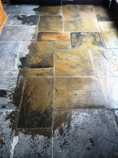 floor ls west yorkshire flagstones cleaned and sealed in hebden bridge west tile doctor