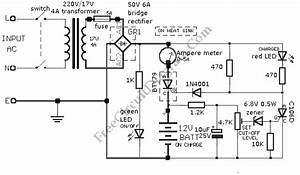 12v Car Battery Charger  1n4001  Circuit Diagram World