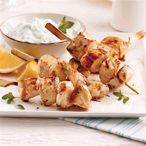 cuisine poulet brochettes de poulet à la grecque recettes cuisine et
