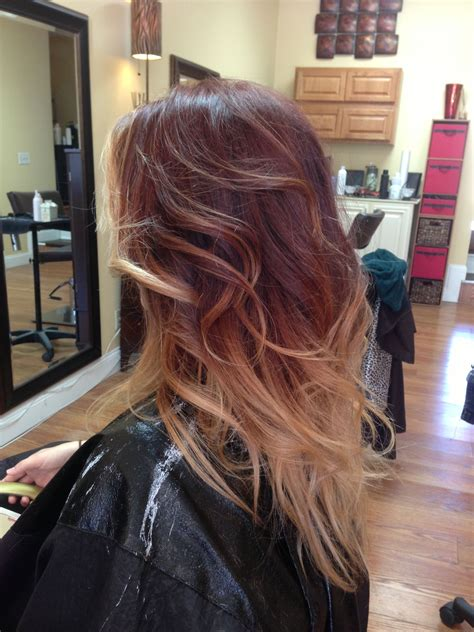 red blonde ombre    ombre hair  supposed