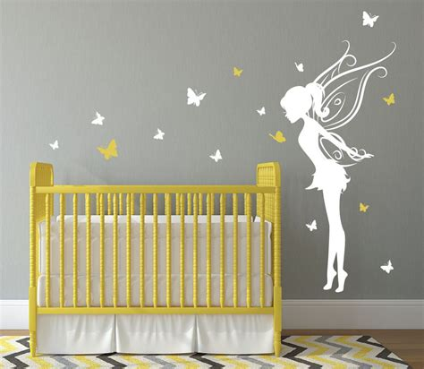 stickers chambre de bebe baby room decor wall decal w butterflies vinyl