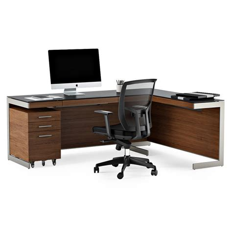 Bdi Sequel Desk Canada by Bdi Sequel Walnut L Desk Modern Office Set Eurway