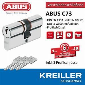 Schließzylinder Beidseitig Schließbar : abus profilzylinder c73 schlie zylinder verschiedenschl inkl 3 schl sseln ~ Watch28wear.com Haus und Dekorationen