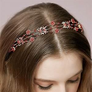 Buy Wholesale Vintage Bridal Wedding Alloy Red Flower
