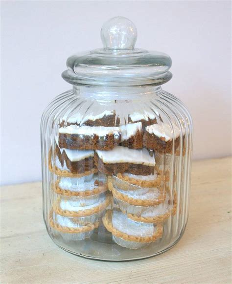 glass apothecary jars uk large ridged glass biscuit jar by ella