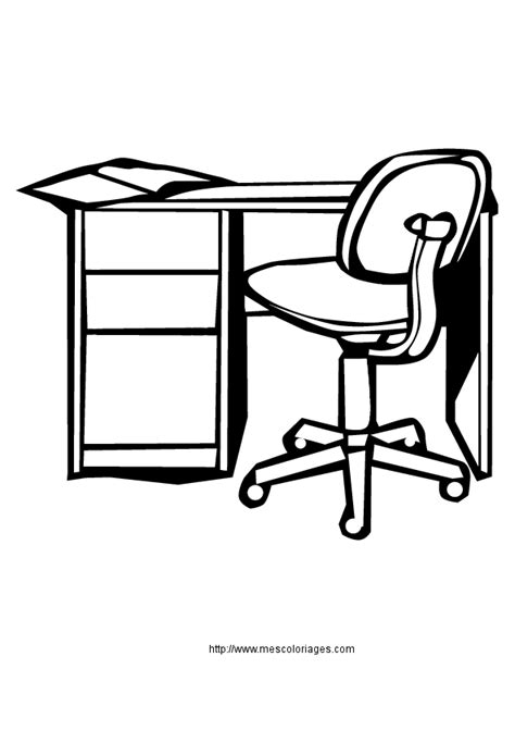 bureau de dessin coloriage objets de la maison meubles à colorier