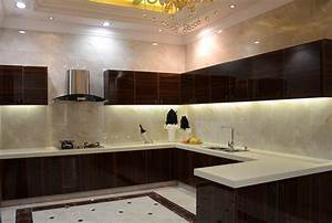 Modern minimalist villa kitchen interior design download for Modern house kitchen interior design
