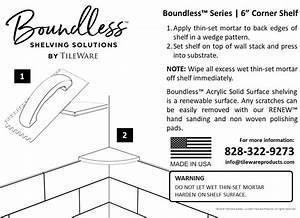 Boundless 6 Corner Shelf For Tile