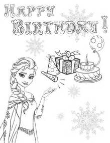Frozen Elsa Coloring Pages Happy Birthday