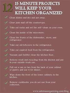 Twelve 15 Minute Projects Will Keep Your Kitchen Organized Sabrina39s Organizing