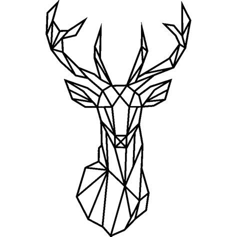 carreaux muraux cuisine sticker design origami tête de cerf stickers animaux animaux de la forêt ambiance sticker