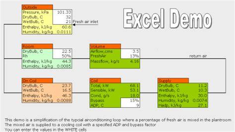 design hvac systems  excel psychrometry