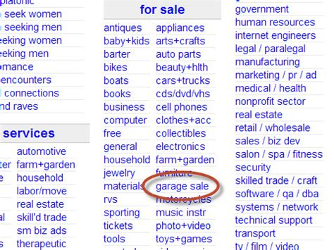 craigslist garage sales how to advertise a garage on craigslist 13 steps