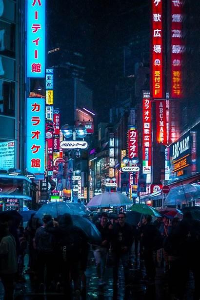 Aesthetic Japan Japanese Neon Iphone Wallpapers Night