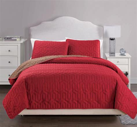 california king quilt bedspread useful 3 pcs reversible solid bedspread quilt set cal