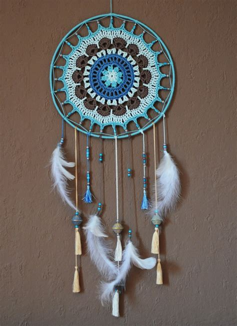 attrape r ve dmc natura perles laines mandala plumes la chouette bricole crochet