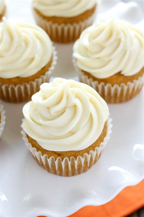 pumpkin cupcakes  cream cheese frosting keeprecipes