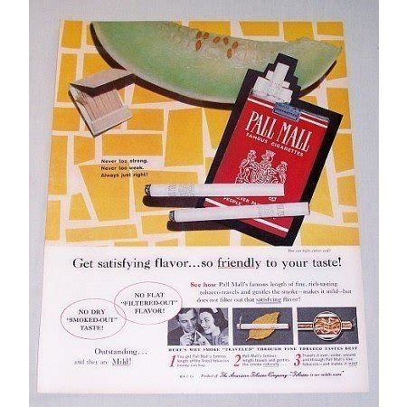 pall mall colors 1960 pall mall cigarettes color tobacco print ad always