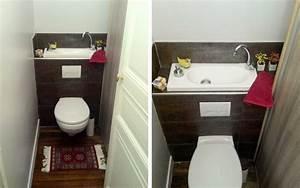 Wc Lave Main Intégré : stunning amenagement toilettes photos design trends 2017 ~ Dailycaller-alerts.com Idées de Décoration