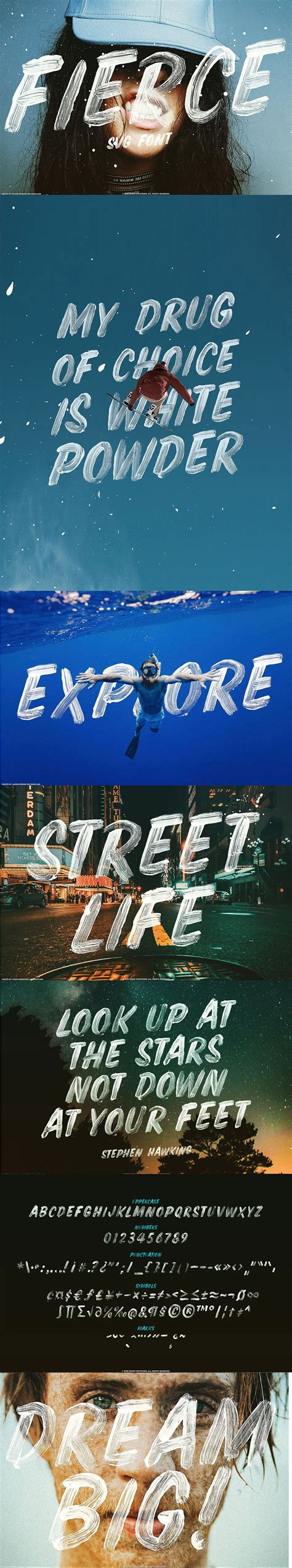 Opentype svg fonts use svgs for the characters, unlike traditional fonts that use normal outlines. Fierce font SVG brush script font   Lettering, Lettre a ...