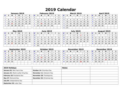 printable blank calendar usa holidays