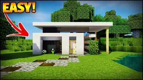 minecraft modern house  beginners minecraft house tutorial easy youtube