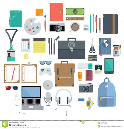 gadget de bureau of office equipment travel gadget and hobby icon stock