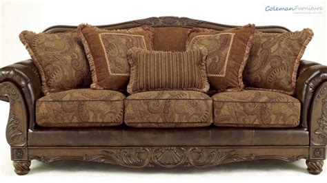 Durablend Loveseat by Fresco Durablend Antique Living Room Collection From