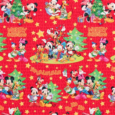 b m gt disney christmas wrap mickey friends red 4m